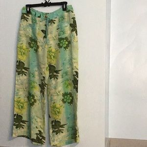 Plenty by Tracy Reese 100% Silk Floral Pants